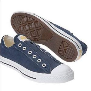 Converse Slip On Chuck Taylor Navy with Yellow 6